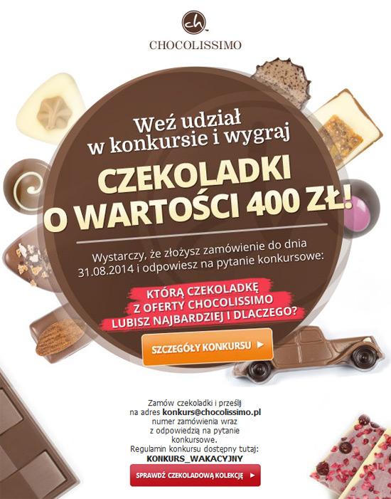 Wygraj czekoladki Chocolissimo