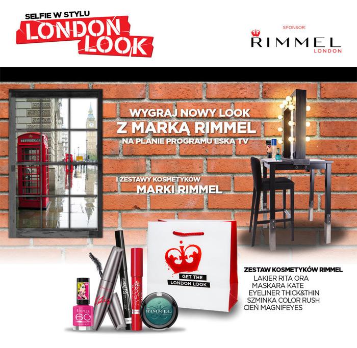Selfie w stylu London Look – wygraj kosmetyki Rimmel