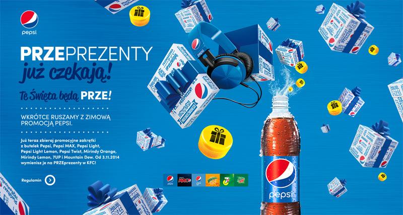 Przeprezenty Pepsi – słuchawki za nakrętki
