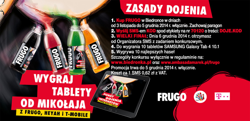 Wygraj Samsung Galaxy Tab 4 – konkurs Frugo w Biedronce