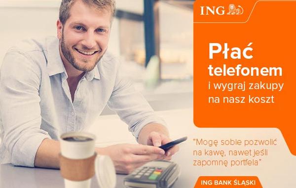 Płać telefonem i wygraj zwrot za zakupy z ING