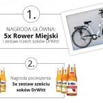 Wygraj rower miejski i zestaw soków DrWitt