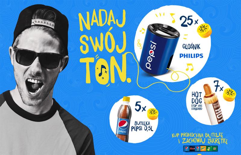 Podejmij wyzwanie Pepsi – głośniki za nakrętki