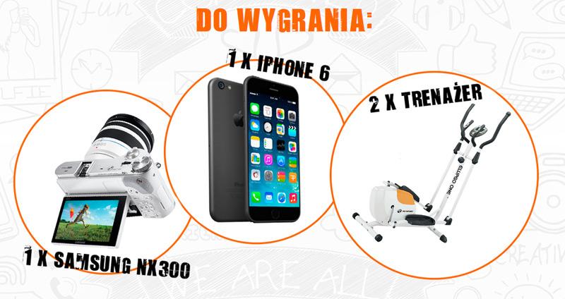Wygraj iPhone 6 lub aparat Samsung NX300
