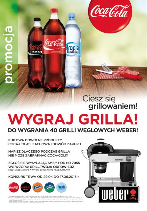 Wygraj grill węglowy Weber – konkurs Coca-Cola