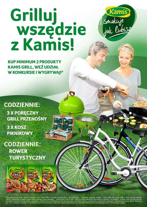 Wygraj grill przenośny lub rower – Kamis w Intermarche