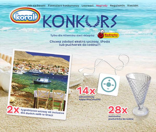 Wygraj wycieczkę do Grecji – lody Koral w Biedronce