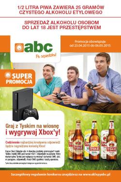 Wygraj konsolę Xbox – konkurs Tyskie w ABC