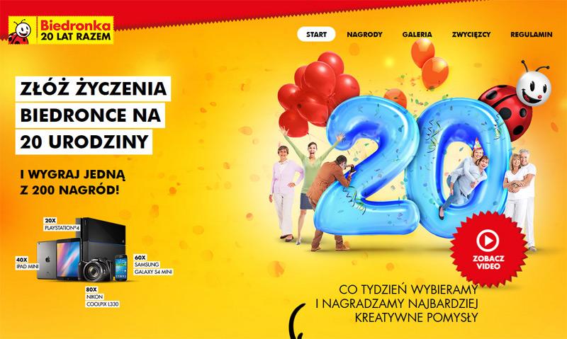 20 urodziny Biedronki – złóż życzenia i wygraj