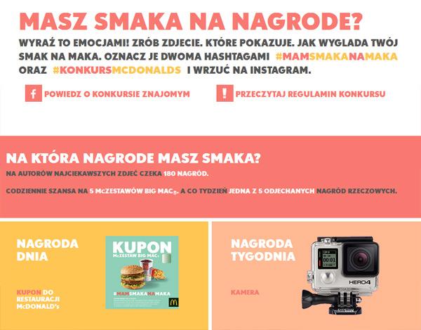 Konkurs MamSmakaNaMaka – wygraj zaproszenie do McDonald's