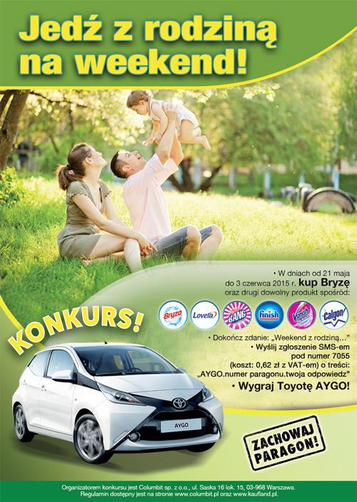 Wygraj samochód Toyota AYGO w Kaufland