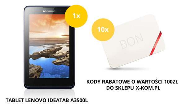 Wygraj tablet Lenovo