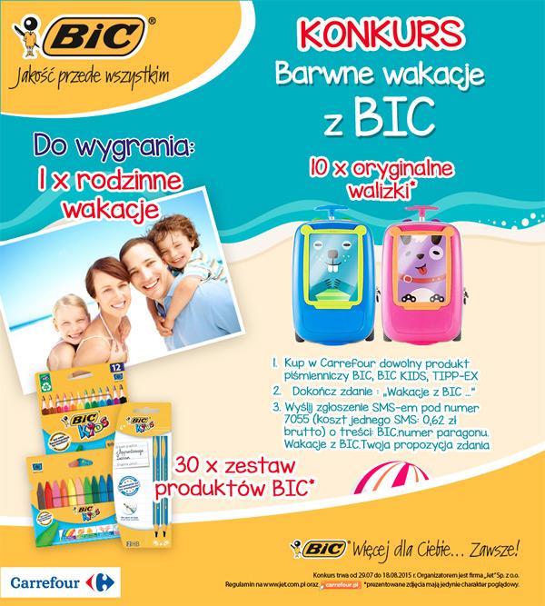 Barwne wakacje z BIC – wygraj rodzinne wakacje