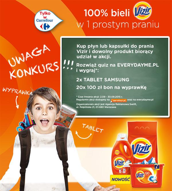 Vizir Back to School – wygraj tablet