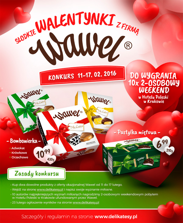 Słodkie walentynki z Wawel – wygraj weekend w Hotelu