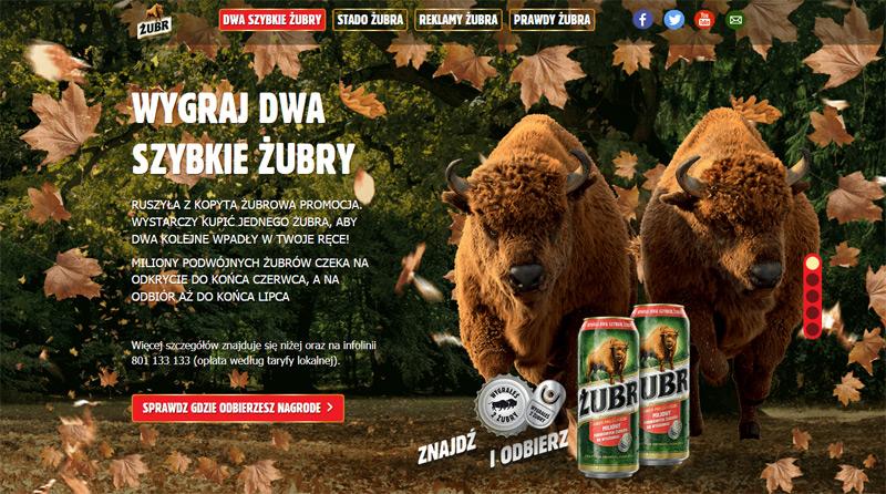 Dwa szybkie Żubry – wygraj dwa piwa