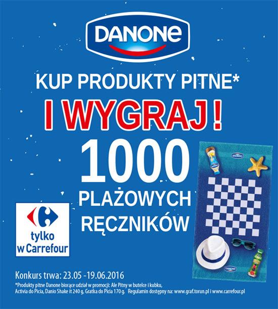 Konkurs Danone w Carrefour – wygraj ręcznik plażowy