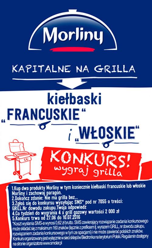 Konkurs Wielkie grillowanie z Morlinami w Biedronce