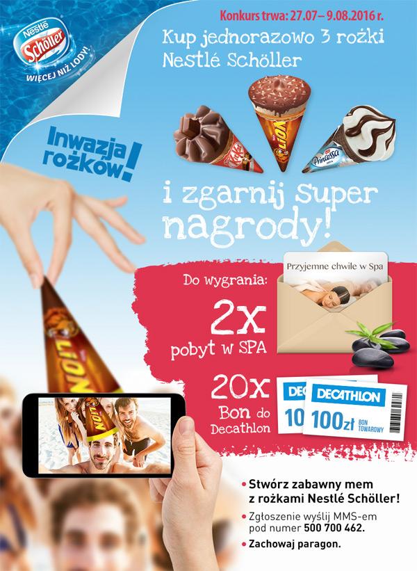 Inwazja rożków – konkurs Nestle Schöller w Żabce