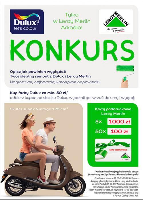 Wygraj skuter Junak – konkurs Dulux Leroy Merlin