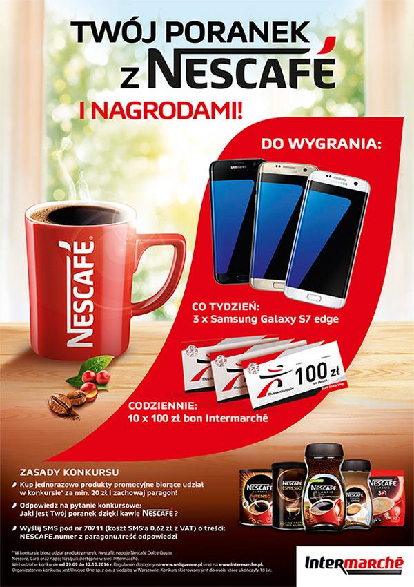 Konkurs Nescafe w Intermarche – wygraj Samsung Galaxy S7