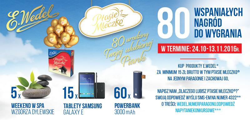Konkurs Wedel – 80 lat Ptasiego Mleczka
