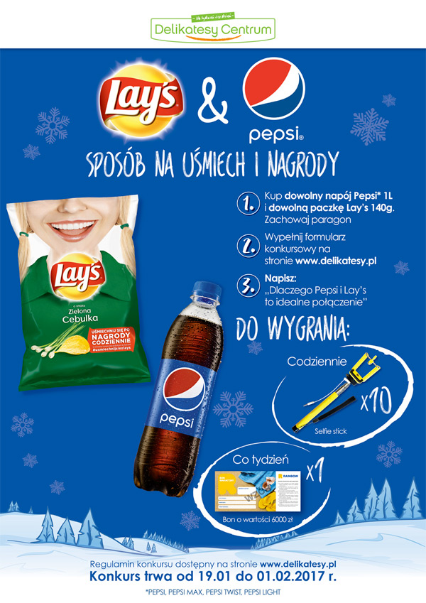 Konkurs Pepsi i Lay's w Delikatesach Centrum