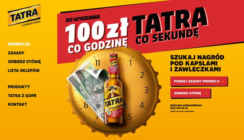 Loteria Tatra 2017 – wygraj 100 zł co godzinę