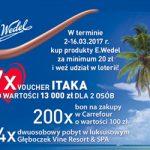 Loteria Wedel w Carrefour – słodki prezent od serca