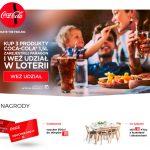 Loteria przy stole Coca-Cola w Leclerc