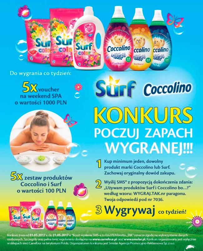 Konkurs Surf i Coccolino w Carrefour – poczuj zapach wygranej