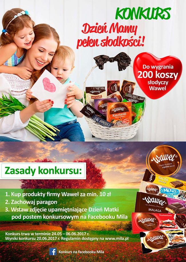 Wygraj kosz słodyczy Wawel na Dzień Matki