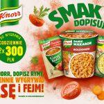 Konkurs Knorr Smak Dopisuje – czerwiec 2017