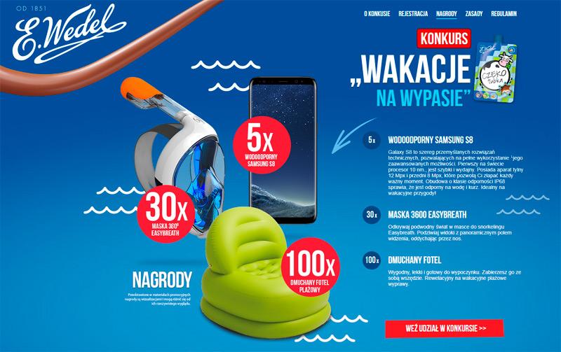 Konkurs Wedel Wakacje na wypasie – wygraj Samsung Galaxy S8