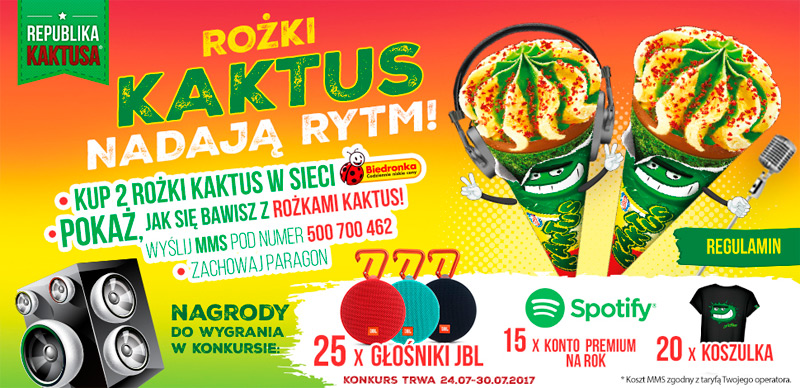 Konkurs Rożki Kaktus nadają rytm w sklepach Biedronka