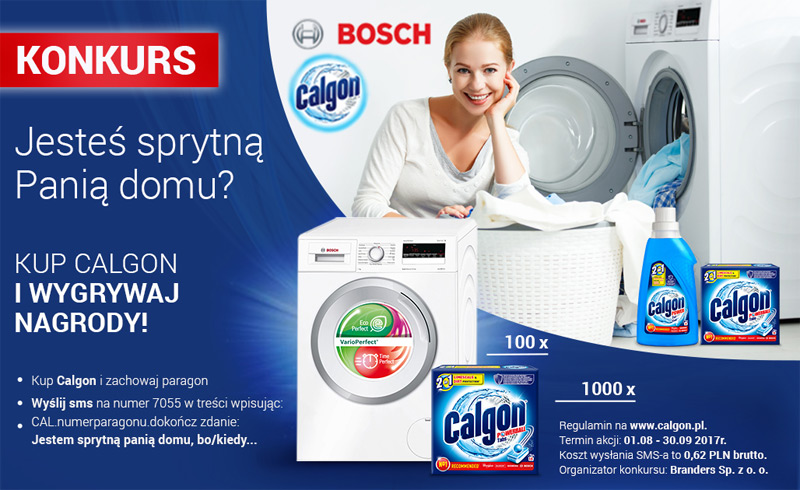 Konkurs Calgon – wygraj pralkę BOSCH