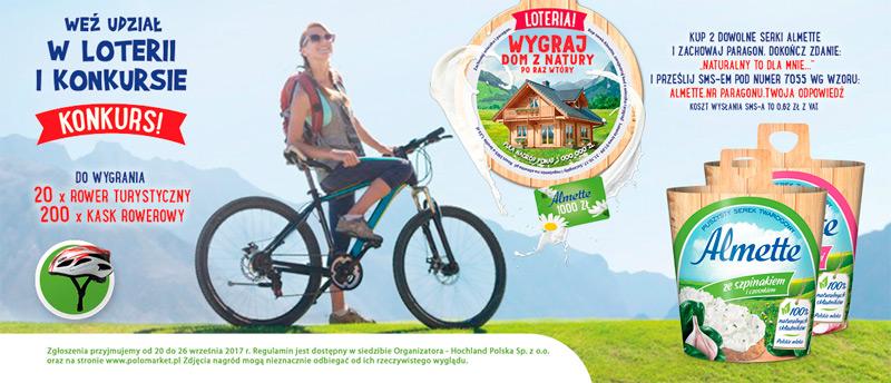 Konkurs Almette Rowerem do natury w POLOmarket