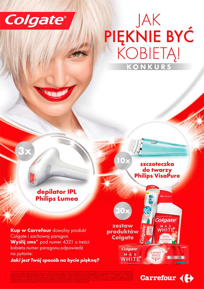 Konkurs Colgate w Carrefour – Jak pięknie być kobietą
