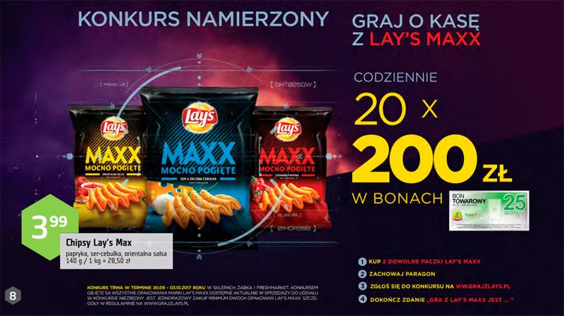 Konkurs Lay's Maxx w sklepach Żabka i Freshmarket