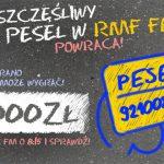 Konkurs Twój szczęśliwy PESEL w RMF FM 2017