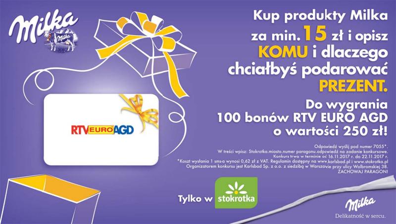 Konkurs Milka w sklepach Stokrotka
