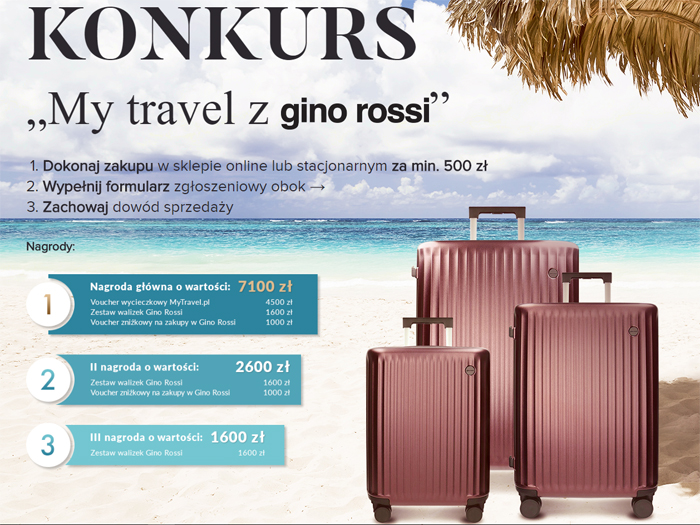 Konkurs My travel z Gino Rossi