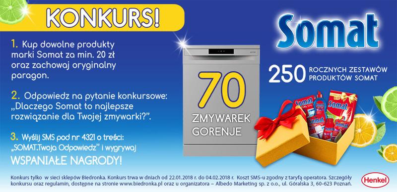 Konkurs Somat w sklepach Biedronka