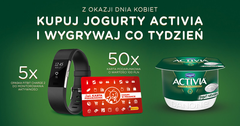 Konkurs Activia w sklepach Biedronka