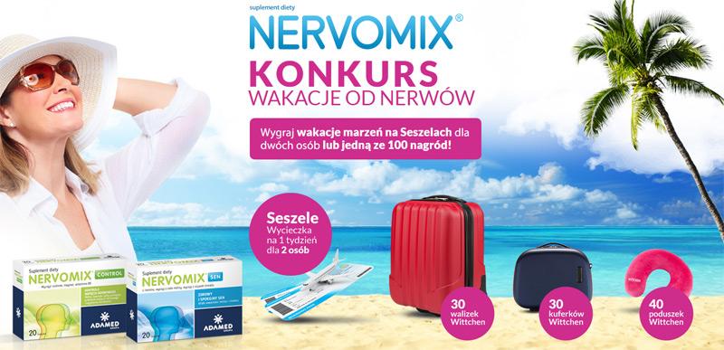 Konkurs Nervomix wakacje od nerwów