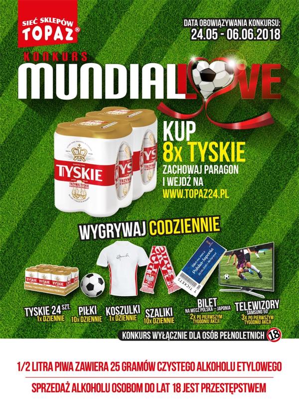 Konkurs Mundiallove Tyskie w sklepach Topaz