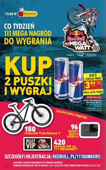 Konkurs Red Bull 111 MEGAWATT w sklepach Biedronka