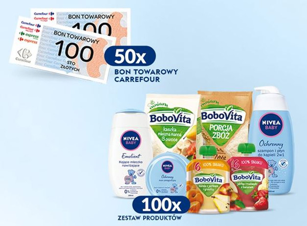 Konkurs NIVEA BABY, Bebiko i BoboVita w Carrefour