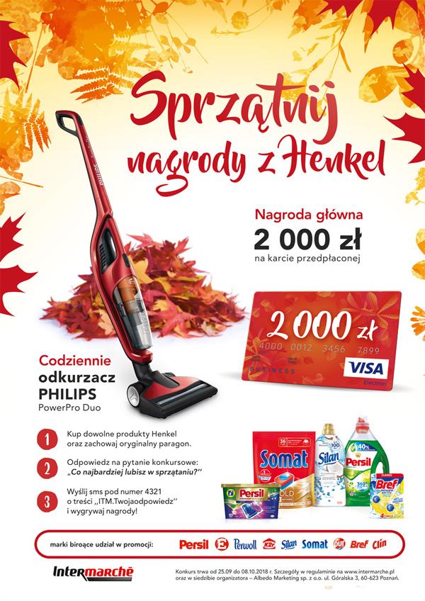Konkurs Sprzątnij nagrody z Henkel w Intermarche