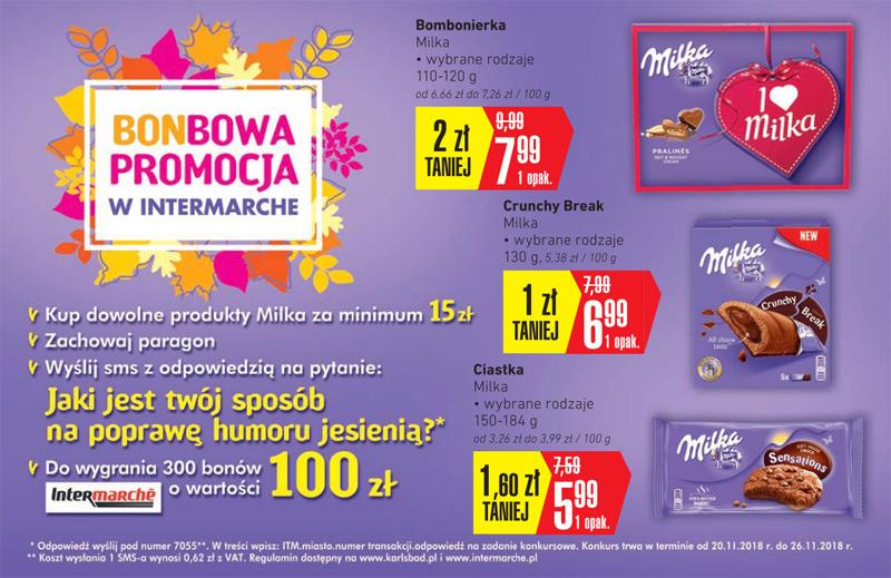 Konkurs Milka w Intermarche – bonbowa promocja